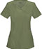 Photograph of Infinity Women's Mock Wrap Top Green 2625A-OLPS