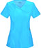Photograph of Infinity Women Mock Wrap Top Blue 2625A-TRQ