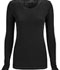 Photograph of Infinity Women's Long Sleeve Underscrub Knit Tee Black 2626A-BAPS