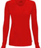 Photograph of Infinity Women Long Sleeve Underscrub Knit Tee Red 2626A-RED