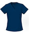 Photograph of Flexibles Women V-Neck Knit Panel Top Blue 2874-NVYB