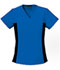 Photograph of Flexibles Women's V-Neck Knit Panel Top Blue 2874-RYLB