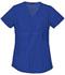 Photograph of Cherokee Flexibles Women\'s Maternity Mock Wrap Knit Panel Top Blue 2892-GABB