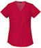 Photograph of Flexibles Women Maternity Mock Wrap Knit Panel Top Red 2892-REDB
