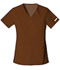 Photograph of Cherokee Flexibles Women\'s V-Neck Knit Panel Top Brown 2968-CHOB