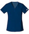 Photograph of Flexibles Women V-Neck Knit Panel Top Blue 2968-NVYB