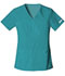 Photograph of Cherokee Flexibles Women's V-Neck Knit Panel Top Green 2968-TELB
