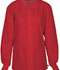 Photograph of WW Flex Unisex Unisex Snap Front Warm-up Jacket Red 34350A-REDW