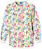 Photograph of Cherokee Prints Women Snap Front Warm-Up Jacket White 4350-BUDO