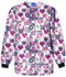Photograph of Cherokee Prints Women Snap Front Warm-Up Jacket White 4350-WRDS
