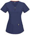 Photograph of Code Happy Bliss Women's V-Neck Top Blue 46600AB-NVCH