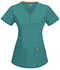 Photograph of Bliss Women V-Neck Top Green 46600AB-TLCH