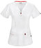 Photograph of Code Happy Bliss Women's V-Neck Top White 46600AB-WHCH