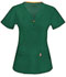 Photograph of Bliss Women's V-Neck Top Green 46600A-HNCH