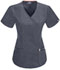Photograph of Bliss Women Mock Wrap Top Gray 46601AB-PWCH