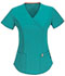 Photograph of Code Happy Bliss Women's Mock Wrap Top Green 46601AB-TLCH