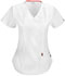 Photograph of Code Happy Bliss Women's Mock Wrap Top White 46601AB-WHCH