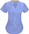 Photograph of Bliss Women's Mock Wrap Top Blue 46601A-CLCH