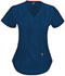 Photograph of Bliss Women's Mock Wrap Top Blue 46601A-NVCH
