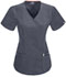Photograph of Bliss Women's Mock Wrap Top Gray 46601A-PWCH