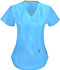 Photograph of Bliss Women's Mock Wrap Top Blue 46601A-TQCH