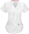 Photograph of Bliss Women's Mock Wrap Top White 46601A-WHCH