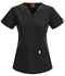 Photograph of Code Happy Bliss Women's V-Neck Top Black 46607AB-BXCH