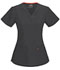 Photograph of Code Happy Bliss Women's V-Neck Top Gray 46607AB-PWCH