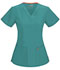 Photograph of Code Happy Bliss Women's V-Neck Top Green 46607AB-TLCH