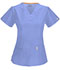 Photograph of Code Happy Bliss Women's V-Neck Top Blue 46607A-CLCH