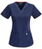 Photograph of Bliss Women's V-Neck Top Blue 46607A-NVCH