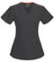 Photograph of Code Happy Bliss Women's V-Neck Top Gray 46607A-PWCH