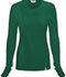 Photograph of Bliss Women's Long Sleeve Underscrub Knit Tee Green 46608A-HNCH