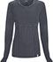 Photograph of Code Happy Bliss Women's Long Sleeve Underscrub Knit Tee Gray 46608A-PWCH