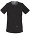 Photograph of WW Core Stretch Women's Maternity V-Neck Knit Panel Top Black 4708-BLKW
