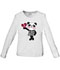 Photograph of WW Core Stretch Women's Little Miss Panda Long Sleeve Knit Tee White 4709-MIPA
