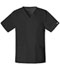 Photograph of WW Core Stretch Unisex Unisex V-Neck Top Black 4725-BLKW