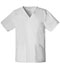 Photograph of WW Core Stretch Unisex Unisex V-Neck Top White 4725-WHTW