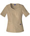 Photograph of WW Originals Women V-Neck Top Khaki 4746-DKAW