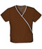 Photograph of WW Originals Women\'s Mini Mock Wrap Top Brown 4800-CHCW