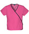 Photograph of WW Originals Women\'s Mini Mock Wrap Top Pink 4800-SHPW