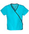 Photograph of WW Originals Women's Mini Mock Wrap Top Blue 4800-TRQW