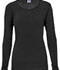 Photograph of WW Originals Women's Long Sleeve Underscrub Knit Tee Black 4881-BLKW