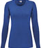 Photograph of WW Originals Women's Long Sleeve Underscrub Knit Tee Blue 4881-ROYW