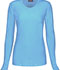 Photograph of WW Originals Women's Long Sleeve Underscrub Knit Tee Blue 4881-TRQW