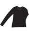 Photograph of WW Originals Women's Long Sleeve Underscrub Knit Tee Black 4975-BAPS