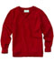 Photograph of Classroom Child's Unisex Youth Unisex Long Sleeve V-neck Sweater Red 56702-RED