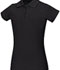 Photograph of Classroom Girl\'s Girls Stretch Pique Polo Black 58222-BLK