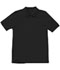 Photograph of Classroom Child's Unisex Youth Unisex Short Sleeve Pique Polo Black 58322-SSBK