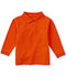Photograph of Classroom Child's Unisex Youth Unisex Long Sleeve Pique Polo Orange 58352-ORG